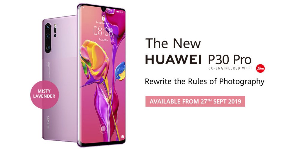 HUAWEI P30 Pro Misty Lavender Available On 27 September!