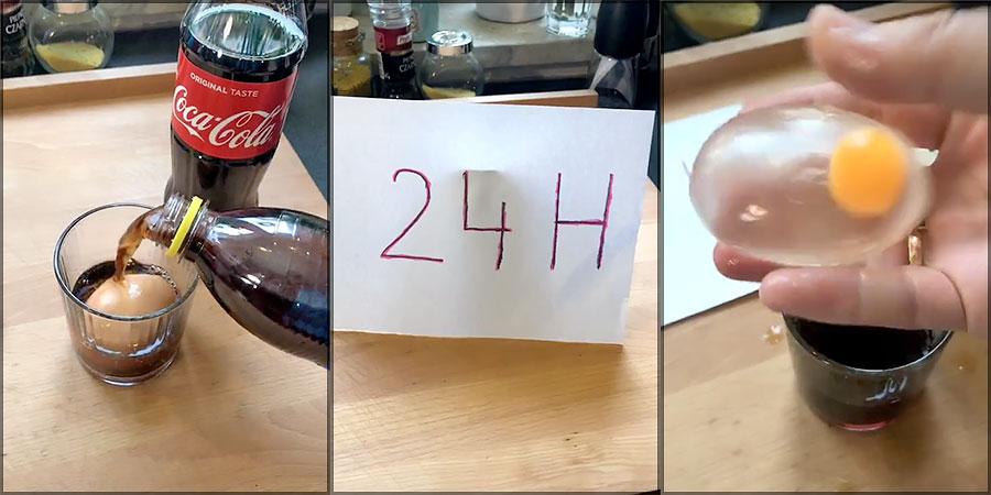 The Viral Soda / Soft Drink Egg Video Hoax Debunked!