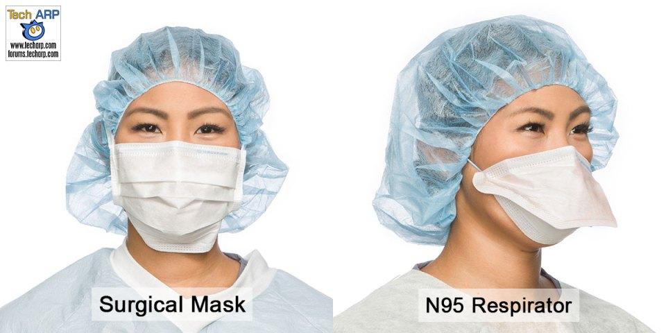 Surgical mask vs N95 respirator