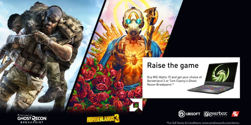 AMD Raise the Game Ghost Recon Borderlands 3
