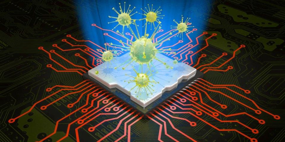 Computer virus attacking CPU