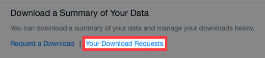 Yahoo Groups download requests