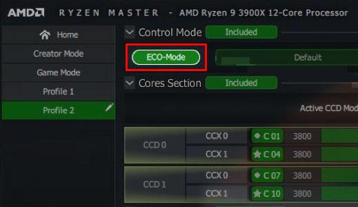 AMD 3rd Gen Ryzen Eco-Mode setting