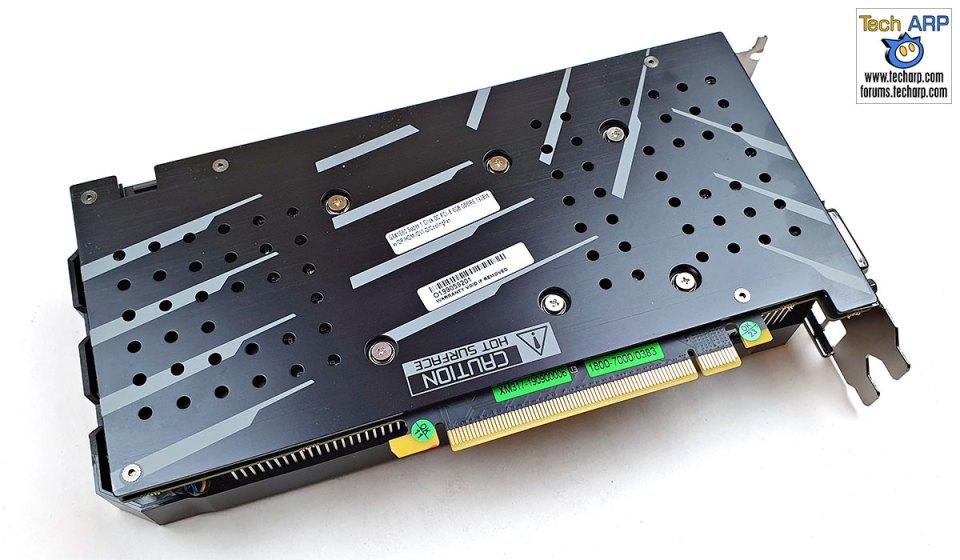 GALAX GeForce GTX 1660 SUPER card back diagonal