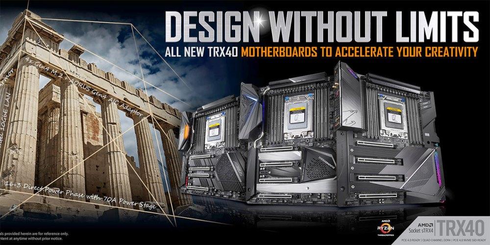 GIGABYTE TRX40 Threadripper Motherboards Revealed!