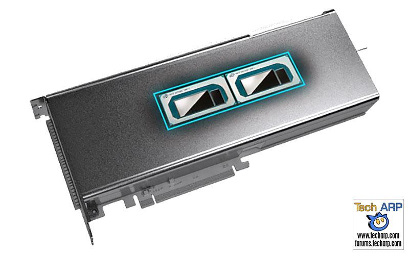 Intel Nervana NNP-I1000 PCIe card chip