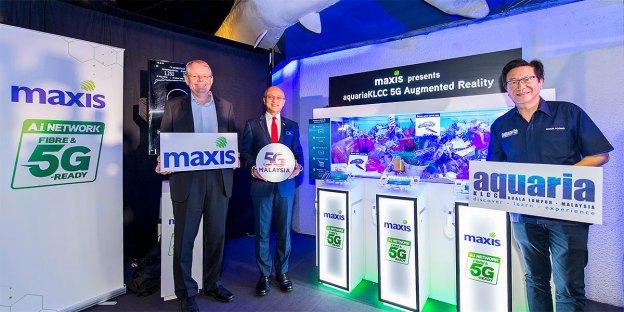 Maxis Showcases aquariaKLCC 5G AR Experience!