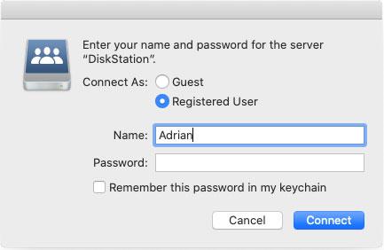 NAS security login