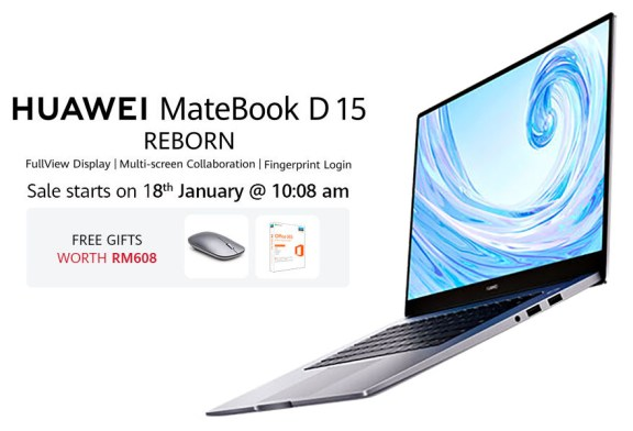 HUAWEI MateBook D 15 : Malaysia Online Deal Revealed!