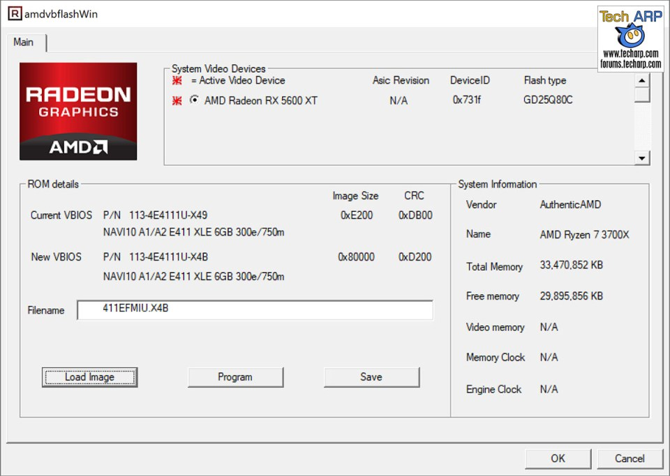 Sapphire RX 5600 XT performance BIOS update