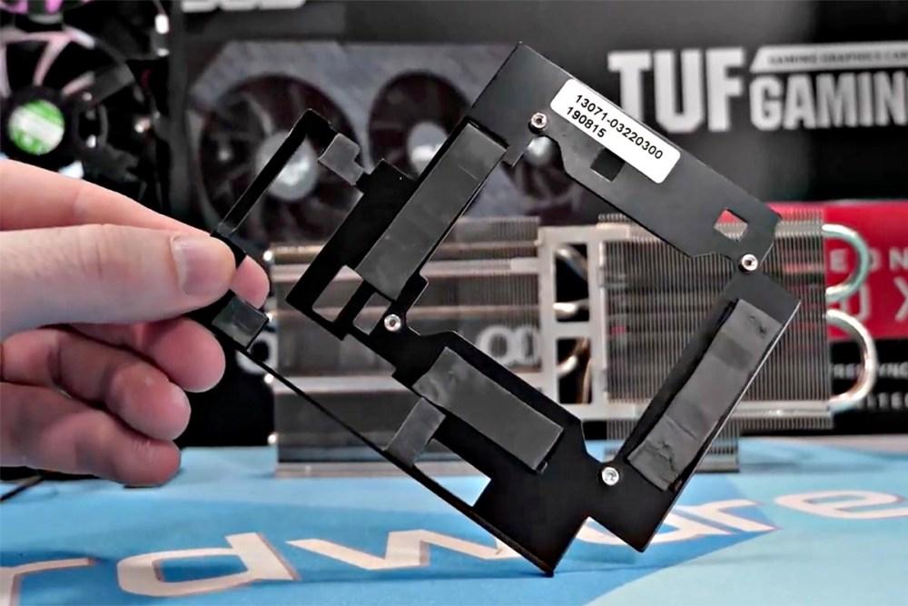 ASUS TUF RX 5700 memory heatspreader