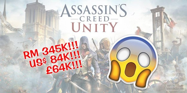 Assassin's Creed Unity On Sale For RM345K, USD84K, £64K!
