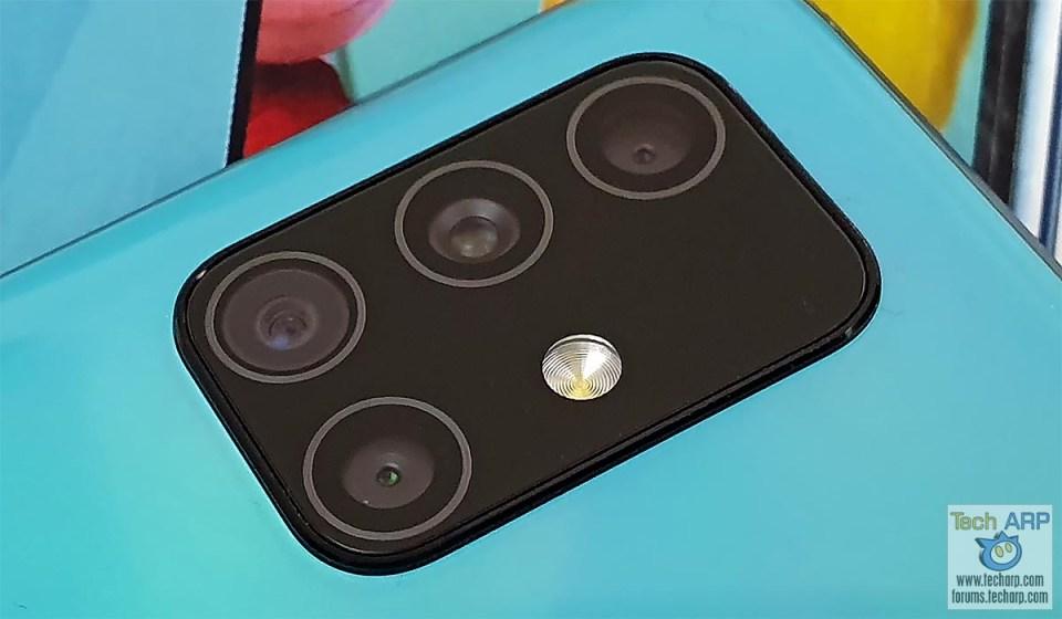 Samsung Galaxy A51 rear cameras