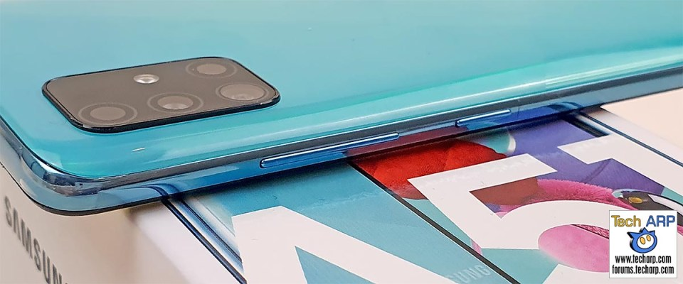 Samsung Galaxy A51 right side