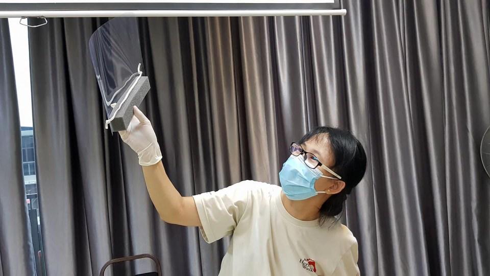 DIY Face Shield - inspection