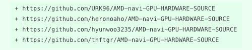 AMD GPU Source Code Github Forks