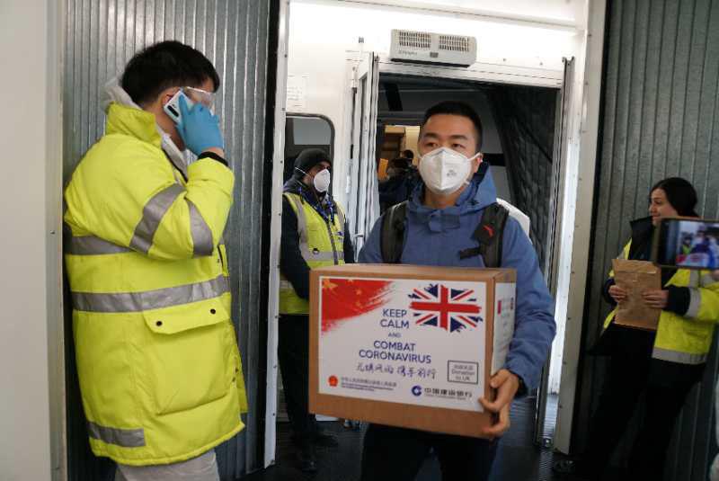 China medical aid to UK 01