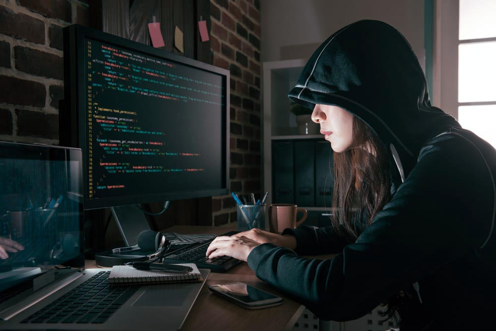 Female hacker