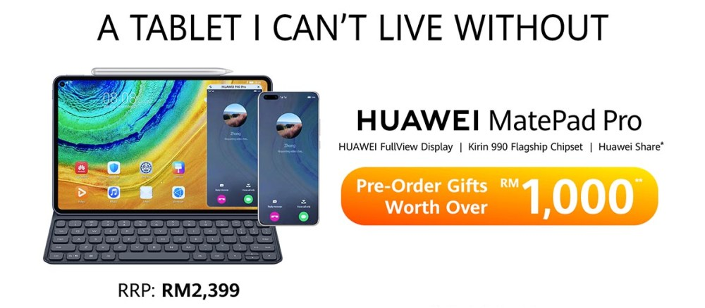 HUAWEI MatePad Pro Price + Pre-Order Deal For Malaysia!