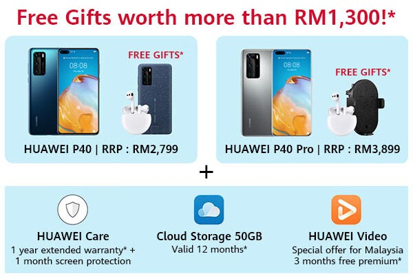HUAWEI P40 Malaysia Pre-Order Deals Summary