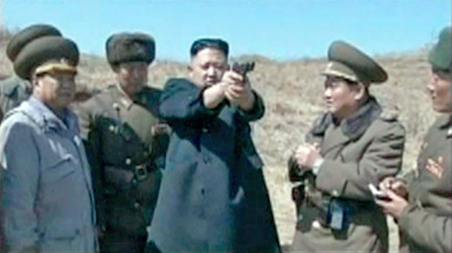 Kim Jong Un shooting gun