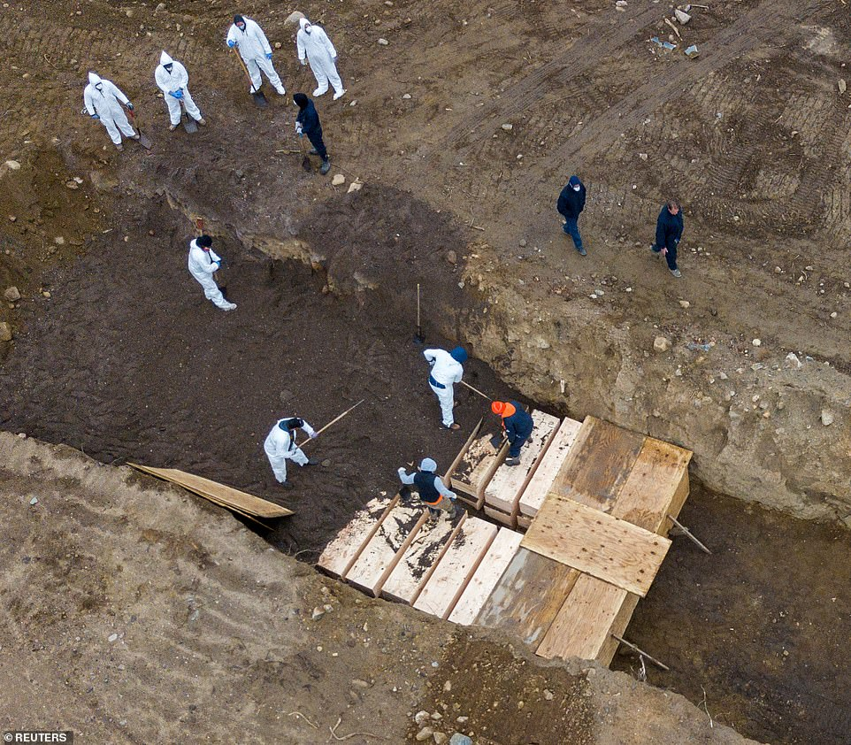 New York Hart Island coffin burials
