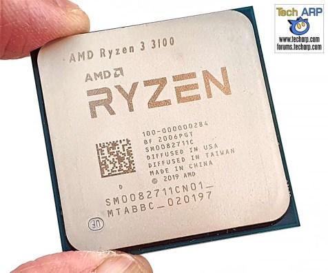 AMD Ryzen 3 3100 front