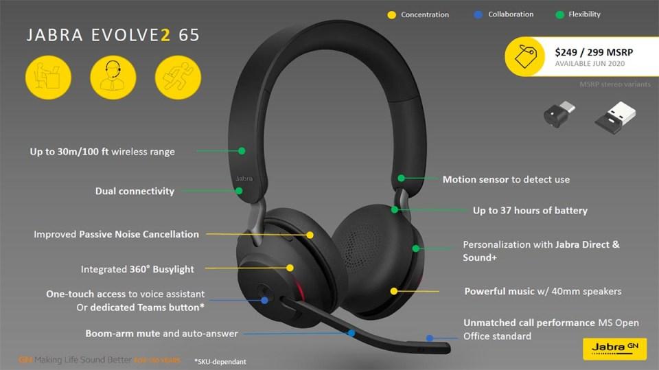 Jabra Evolve2 65 features