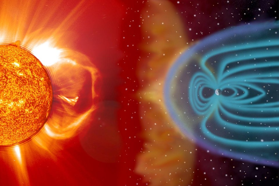 Earth magnetic field protection