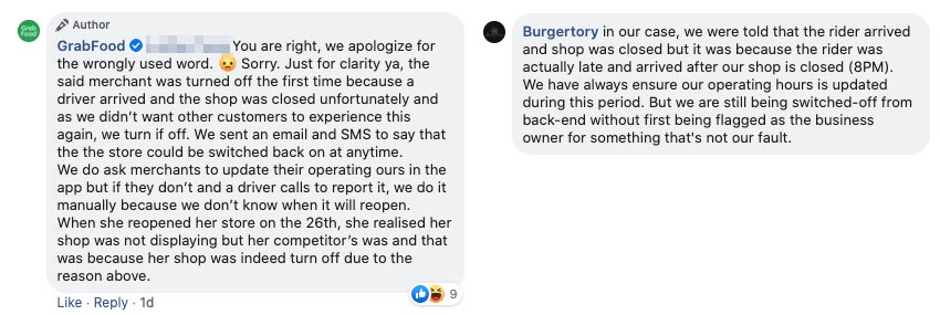 GrabFood Burgertory comments 01