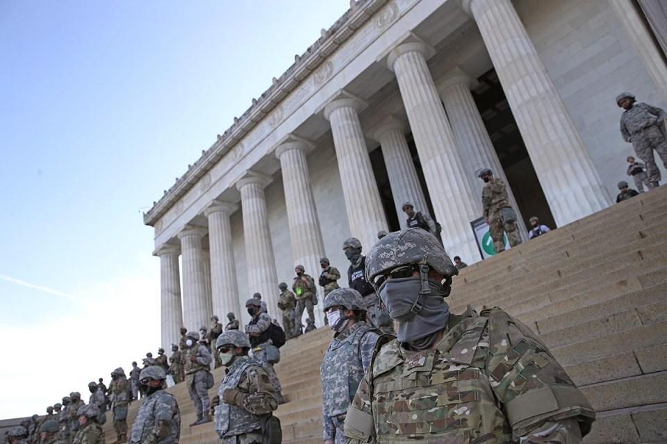 National Guard at Lincoln Memorial