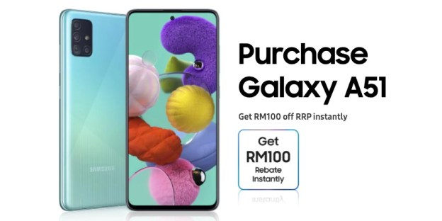 Samsung Galaxy A51 (8GB) : RM100 Off For June 2020!