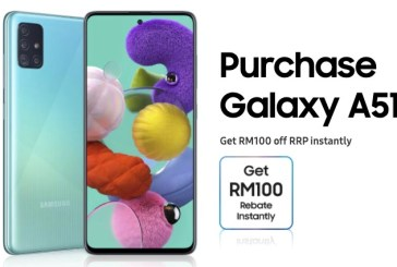 Samsung Galaxy A51 (8GB) : RM100 Off For Sept 2020!