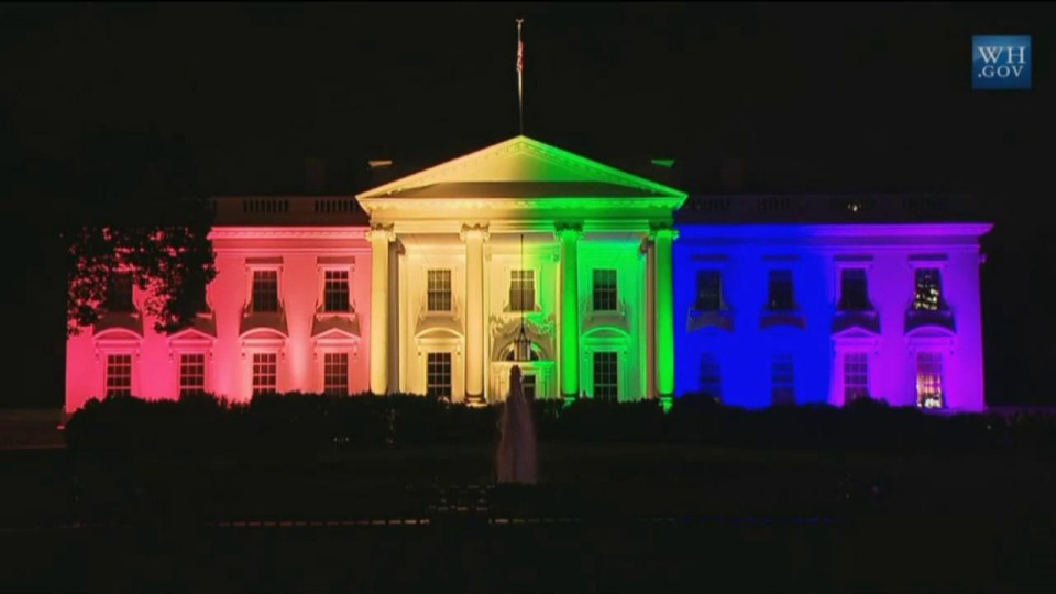 White House LGBT lights