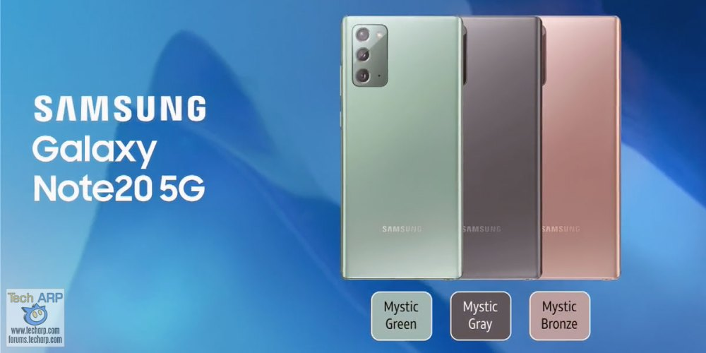 Samsung Galaxy Note20 5G Colour Options