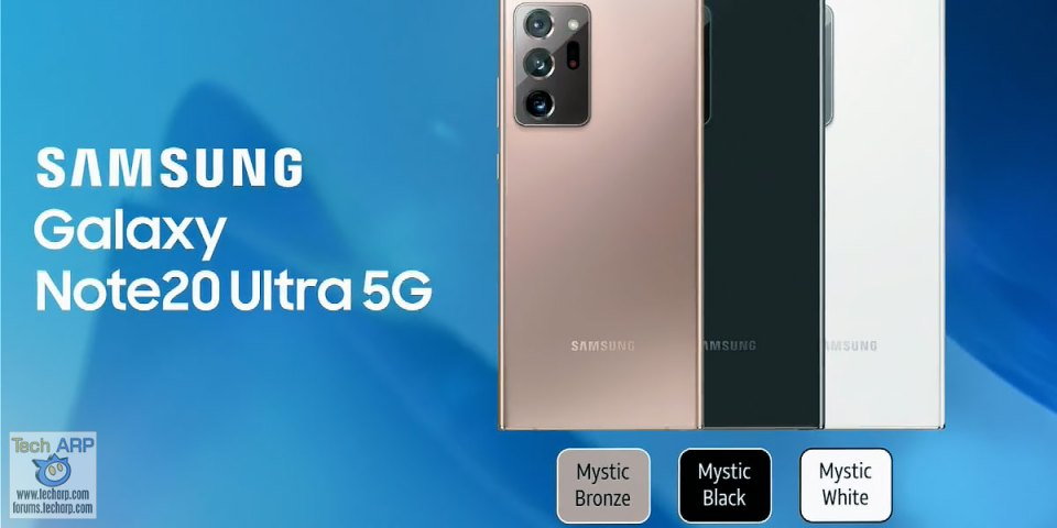 Samsung Galaxy Note20 Ultra 5G Colour Options