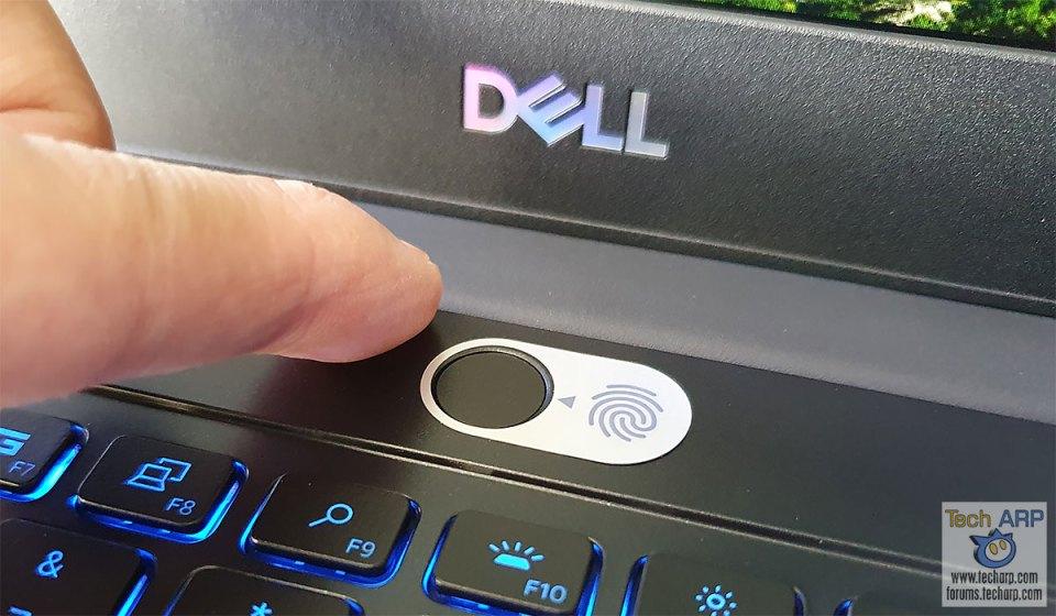 Dell G5 15 5500 fingerprint sensor