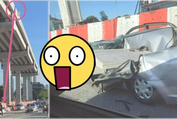 MRR2 : Driver Escapes After Concrete Slab Falls On Car!