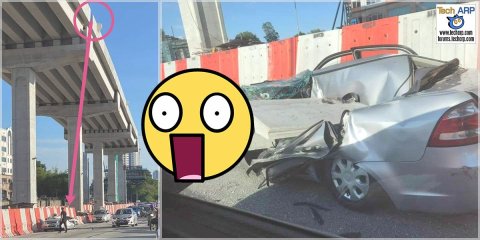 MRR2 : Driver Escapes After Concrete Slab Falls On Car!