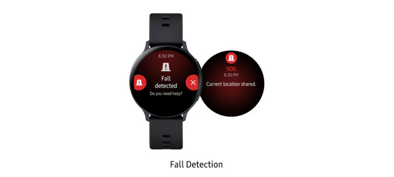 Samsung Galaxy Watch Active2 Sept 2020 Fall Detection