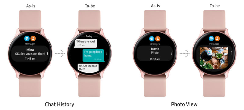 Samsung Galaxy Watch Active2 Chat History + Photo View