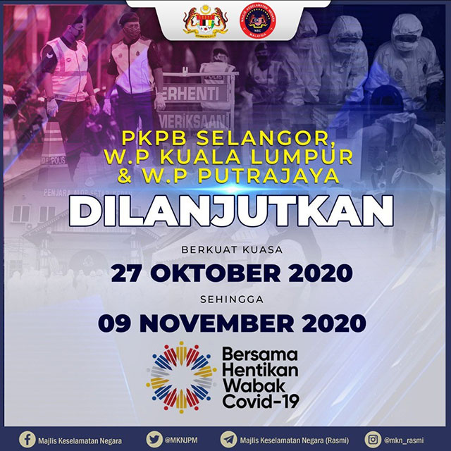 Klang Valley CMCO Lockdown Extended To 9 November 2020!