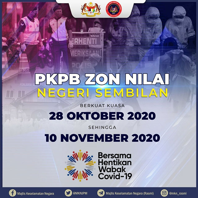 Nilai CMCO Lockdown To Start On 28 October 2020!