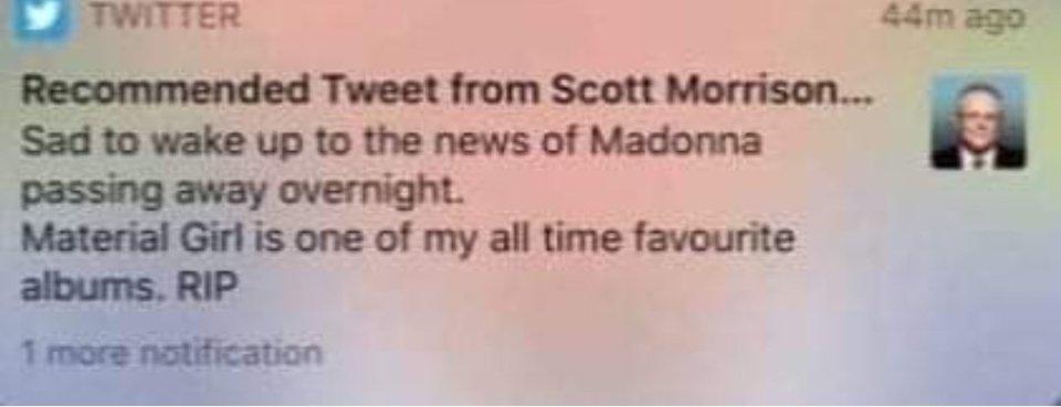 Scott Morrison : Did He Mistake Maradona For Madonna?