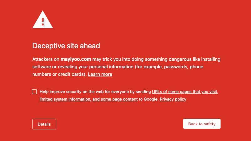 Maybank phishing scam - Mayiyoo warning