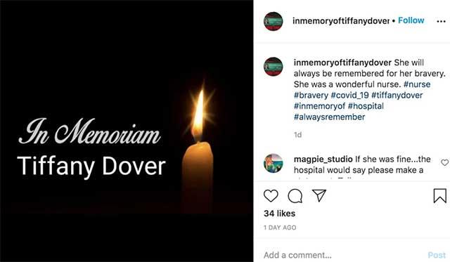 Tiffany Dover death memoriam Instagram