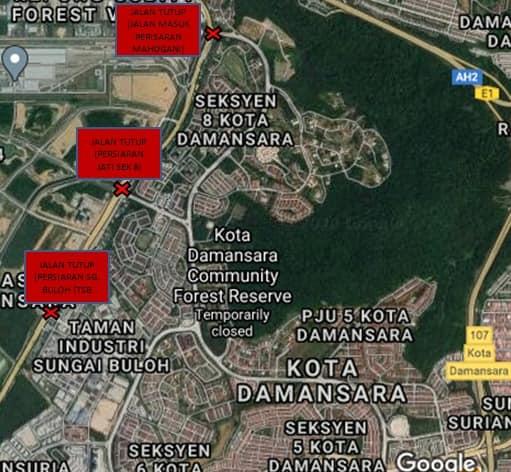 Here Are The MCO Roadblock Locations In Petaling Jaya