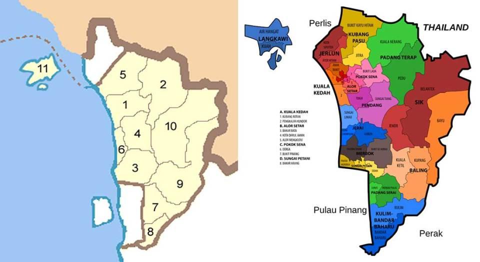 Kedah district map