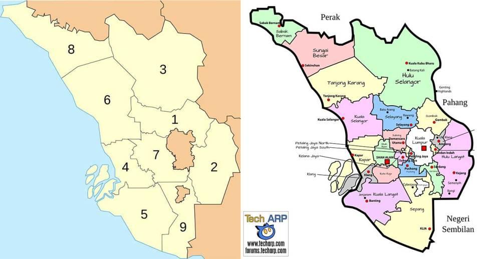 Selangor district maps