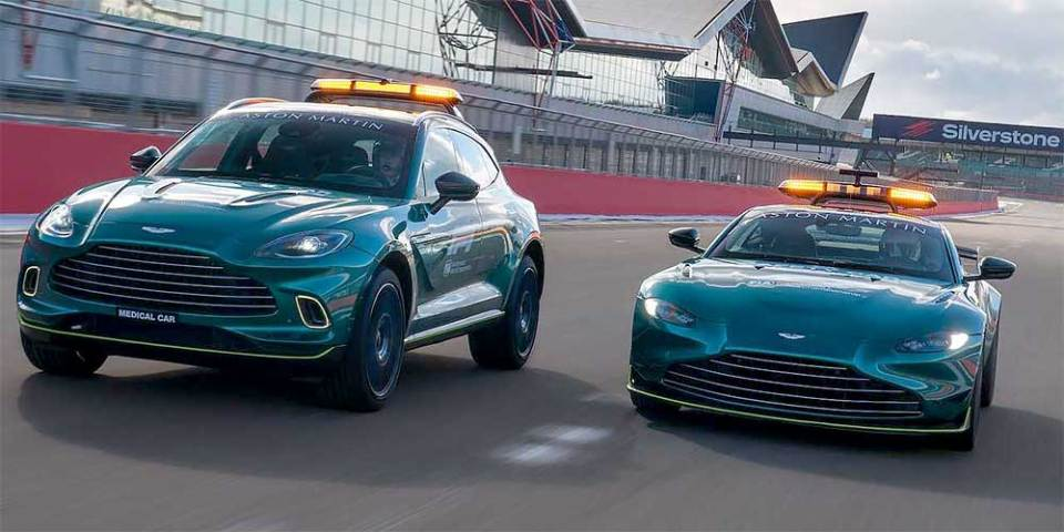 Aston Martin To Supply F1 Safety + Medical Cars!